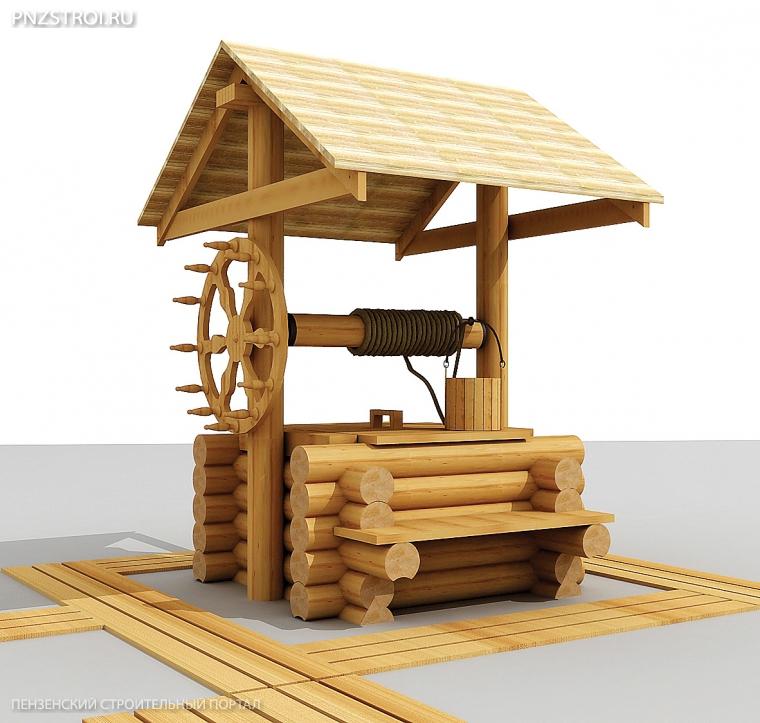 фуфайка деревянный домик для колодца Liod Итальянская
