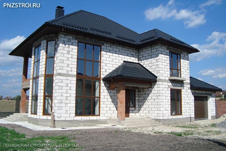 Проекты двухэтажных дома из блоков: строительство домов