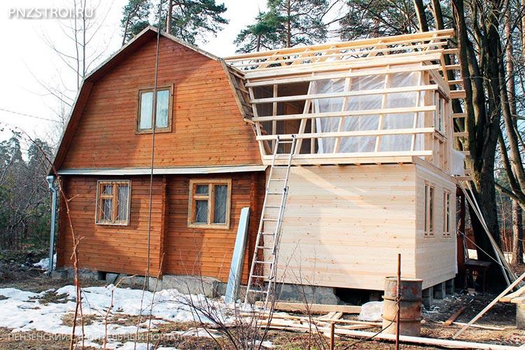 Как построить пристрой из бруса к дому