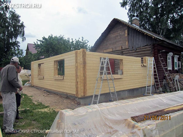 Как построить пристройку из бруса к дому