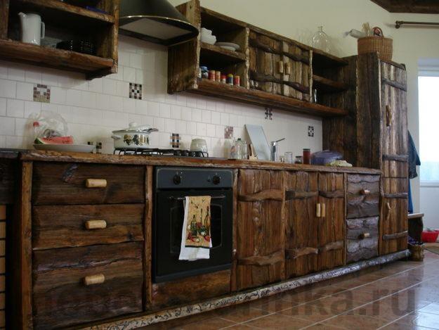 Как сделать деревянную кухню