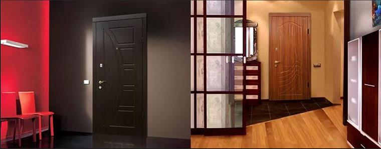 дизайн железной входных дверей